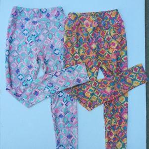 Lularoe set of 2 tween printed leggings